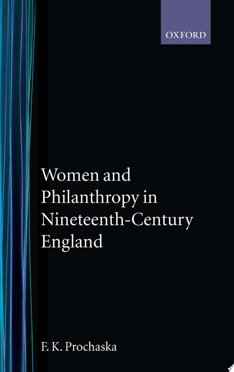 Women and Philanthropy in Nineteenth-century England banner backdrop