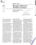 Managing diplomacy : problems and issues