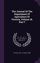 The Journal Of The Department Of Agriculture Of Victoria Volume 18 Part 7