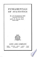 Fundamentals of Statistics