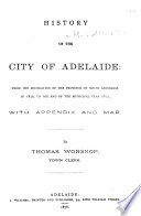 History of the City of Adelaide Book