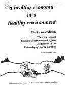 A Healthy Economy in a Healthy Environment
