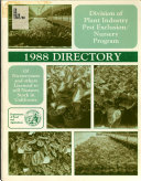 Directory of Nurserymen and Others Licensed to Sell Nursery Stock in California  and Summary of Laws and Regulations