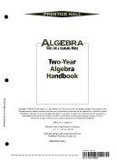 Algebra (2 Year Handbook)