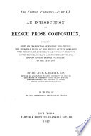 The French Principia      An introduction to French prose composition