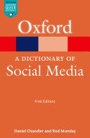 A Dictionary of Social Media