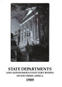 State Departments And Autonomous Statutory Bodies Of Southern Africa Book PDF