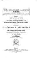 Traité du calcul des probabilités et de ses applications