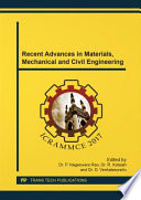 Recent Advances In Materials Mechanical And Civil Engineering Book PDF