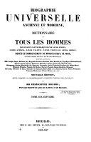 Biographie universelle, ancienne et moderne ...