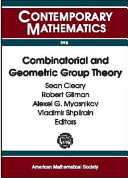 Combinatorial and Geometric Group Theory Pdf/ePub eBook