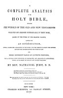 A complete analysis of the Holy Bible