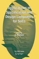 Applications of Specification and Design Languages for SoCs Pdf/ePub eBook