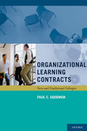 Organizational Learning Contracts Pdf/ePub eBook