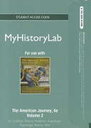 The American Journey Myhistorylab Pegasus With Student Access Code Card
