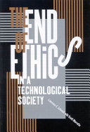 The End of Ethics in a Technological Society Pdf/ePub eBook