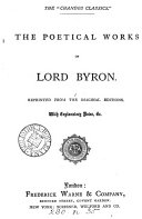 The poetical works of lord Byron  Repr  with notes   c
