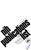 Nih Publications List
