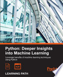 Python  Deeper Insights into Machine Learning Book