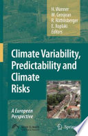 Climate Variability  Predictability and Climate Risks Book