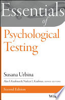 Essentials of Psychological Testing Book