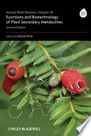 Annual Plant Reviews  Functions and Biotechnology of Plant Secondary Metabolites