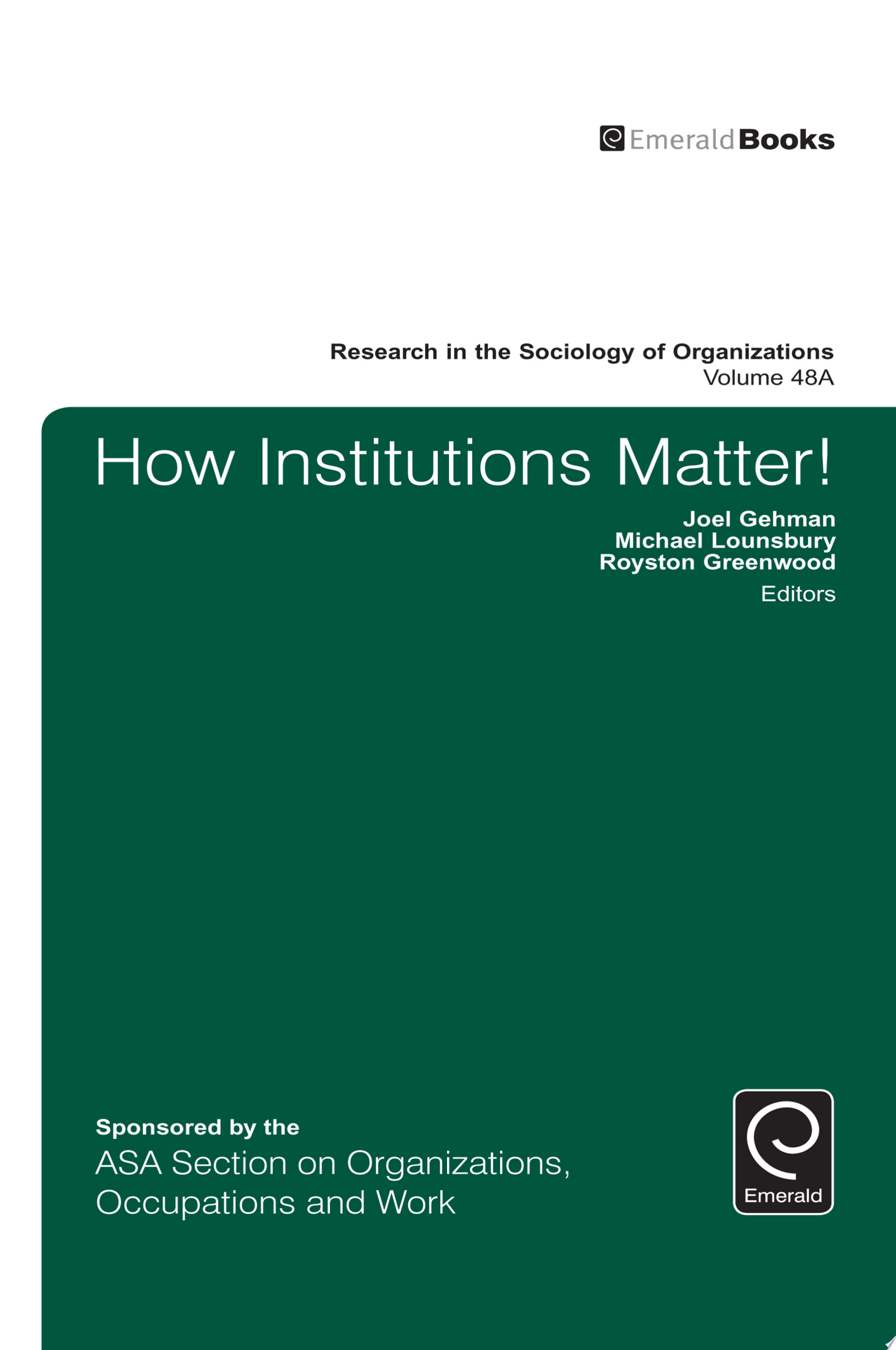 How Institutions Matter