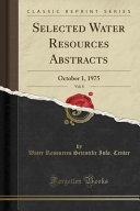 Selected Water Resources Abstracts, Vol. 8
