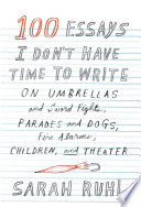 100 Essays I Don T Have Time To Write Book PDF