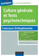 Pdf Culture générale et Tests psychotechniques - Concours Orthophoniste Telecharger