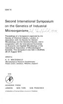 Second International Symposium on the Genetics of Industrial Microorganisms