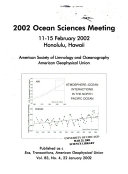 2002 Ocean Sciences Meeting Book