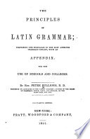 Principles of Latin Grammar Book
