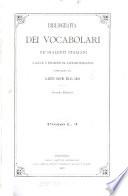 Bibliografia dei vocabolari ne' dialetti italiani raccolti e posseduti da Gaetano Romagnoli