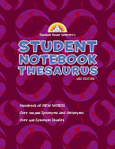 Random House Webster s Student Notebook Thesaurus  Third Edition   Boy