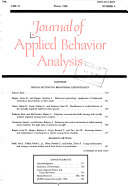 Journal of Applied Behavior Analysis
