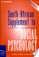 South African Supplement To Social Psychology