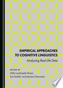 Empirical Approaches to Cognitive Linguistics