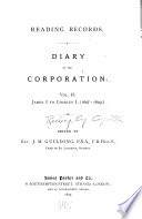 Diary Of The Corporation James I To Charles I 1603 1629