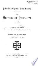 The History of Jerusalem A.D. 1180