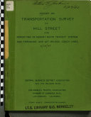 Report On Transportation Survey Of Hill Street And Rerouting Of Asbury Rapid Transit System San Fernando And Mt Wilson Coach Lines