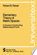 Elementary Theory of Metric Spaces Book