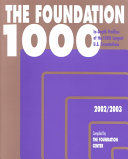 The Foundation 1000, 2002-2003