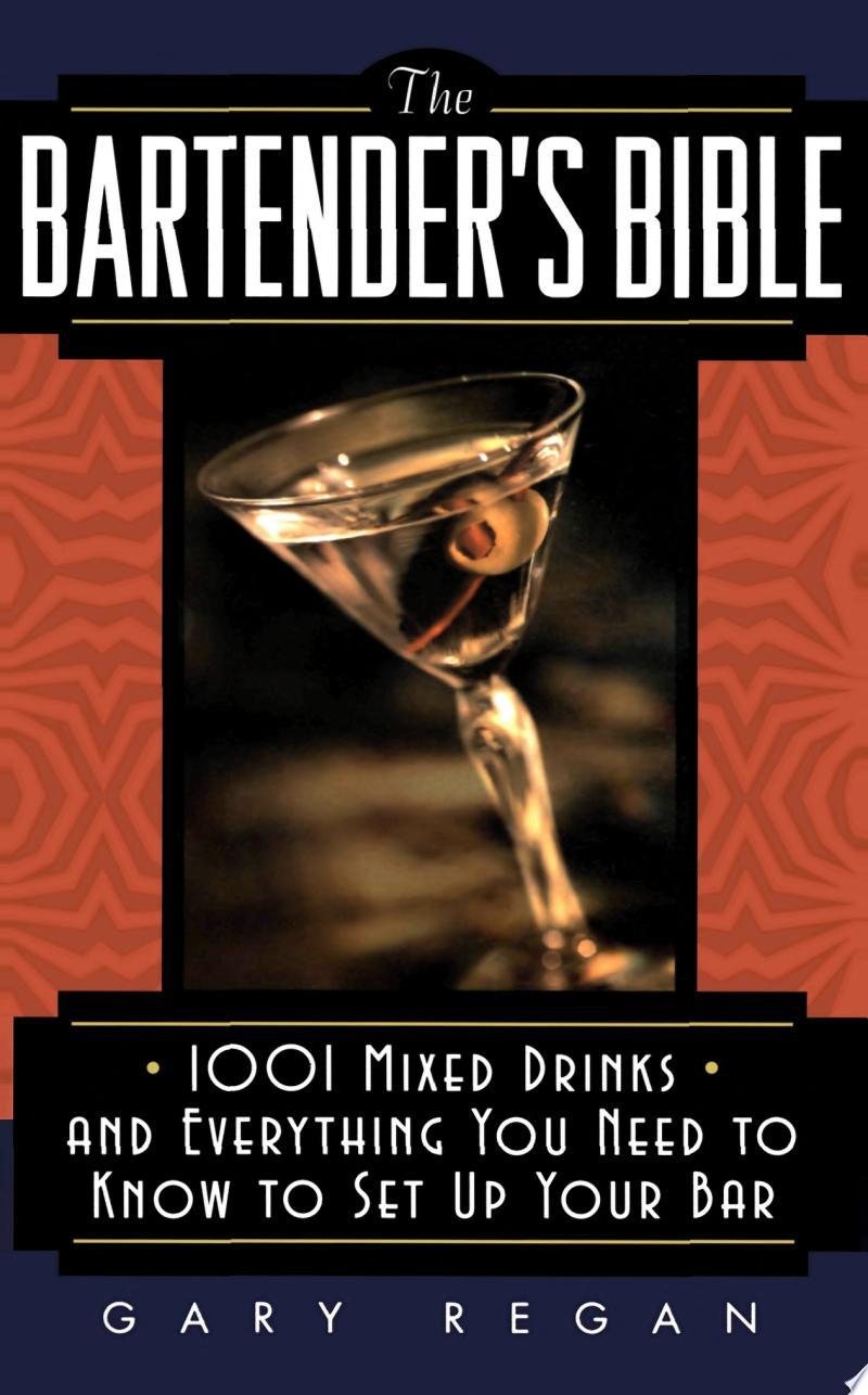 The Bartender's Bible banner backdrop