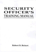 Security Officer's Training Manual