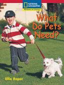 What Do Pets Need? PDF