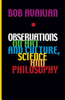 Observations on Art and Culture  Science and Philosophy Book PDF