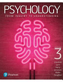 Cover of Psychology: from Inquiry to Understanding