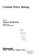 Criminal Policy Making