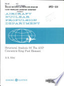 Structural Analysis of the ANP Concentric Ring Fuel Element
